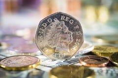 50 moedas de um centavo Fotografia de Stock Royalty Free