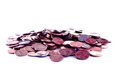 Moedas de um centavo Fotografia de Stock Royalty Free