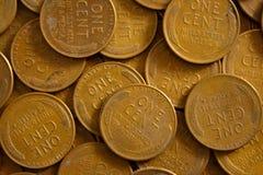 Moedas de um centavo do trigo Imagens de Stock Royalty Free