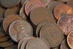 Moedas de um centavo do trigo Foto de Stock Royalty Free