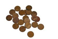 Moedas de um centavo do trigo Fotos de Stock Royalty Free