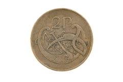 2 moedas de um centavo irlandesas Imagens de Stock