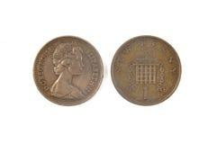 2 moedas de um centavo irlandesas Imagens de Stock Royalty Free