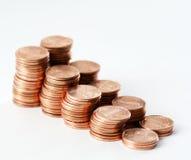 Moedas de um centavo VI imagem de stock royalty free