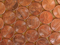 Moedas de um dólar do centavo, Estados Unidos Imagem de Stock Royalty Free