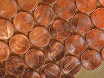 Moedas de um dólar do centavo, Estados Unidos Fotografia de Stock Royalty Free
