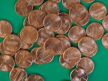 Moedas de um dólar do centavo, Estados Unidos Fotos de Stock Royalty Free
