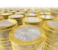 Moedas de um euro ilustração do vetor