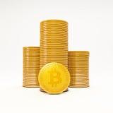 Moedas do bocado, a moeda virtual Imagens de Stock