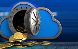 moedas do dólar 3d sobre o cyber Imagem de Stock