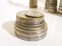 Moedas do dinheiro imagem de stock royalty free