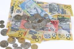 Moedas do dinheiro Fotografia de Stock