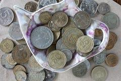 Moedas do dinheiro Imagem de Stock