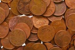Moedas do Euro Imagem de Stock