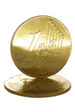 Moedas do euro do ouro Foto de Stock Royalty Free