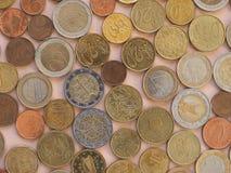 Moedas do Euro, fundo da União Europeia Imagem de Stock Royalty Free