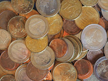 Moedas do Euro, fundo da União Europeia Fotografia de Stock