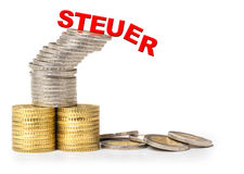 Moedas do Euro, investimento, incerto fotos de stock royalty free