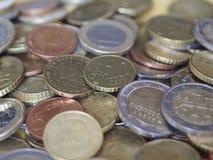 Moedas do Euro, União Europeia foto de stock royalty free
