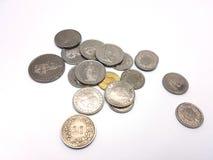 Moedas do franco suíço Foto de Stock