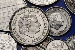 Moedas dos Países Baixos Imagens de Stock Royalty Free