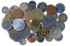 Moedas dos vários países imagens de stock royalty free