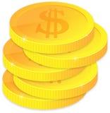 moedas douradas Fotos de Stock