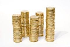 Moedas douradas Imagem de Stock Royalty Free