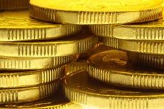 Moedas douradas Foto de Stock Royalty Free