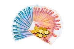 moedas e dinheiro fotografia de stock royalty free