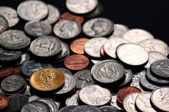 moedas e dinheiro Imagem de Stock