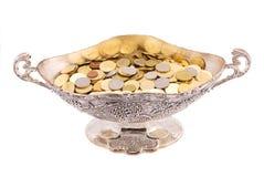 Moedas em um vaso Fotografia de Stock Royalty Free