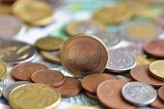 Moedas EUR e PLN Imagem de Stock Royalty Free