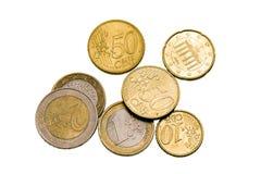 Moedas européias Fotos de Stock