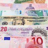 Moedas globais Foto de Stock Royalty Free