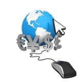 Moedas globais em linha Fotos de Stock Royalty Free