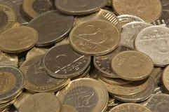 Moedas húngaras diferentes da forint Fotografia de Stock Royalty Free