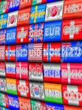 Moedas internacionais Imagens de Stock Royalty Free