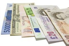 Moedas internacionais Imagem de Stock Royalty Free