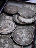 Moedas japonesas velhas Fotos de Stock Royalty Free