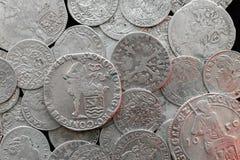 Moedas medievais de prata antigas Imagens de Stock