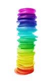 Moedas nas cores Imagem de Stock