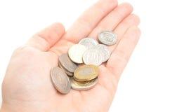 Moedas polonesas da moeda Imagem de Stock Royalty Free