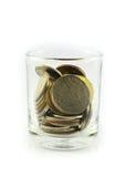 Moedas tailandesas e dinheiro tailandês Imagem de Stock Royalty Free