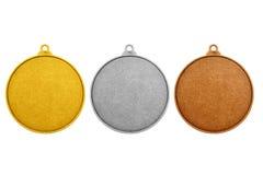 Moedas vazias, cor das medalhas dos jogos Imagens de Stock Royalty Free