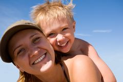 Moeder & kind (zoon) Royalty-vrije Stock Afbeeldingen