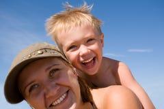 Moeder & zoon Royalty-vrije Stock Fotografie