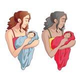 Moeder die een baby houdt Royalty-vrije Stock Fotografie