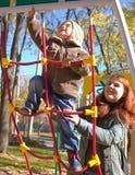 Moeder en 2 jaar oude zoons Stock Fotografie
