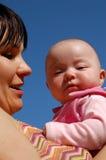 Moeder en baby #13 Stock Afbeelding